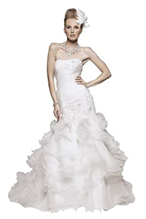 wedding dress wedding dress ivory white strapless a line wedding