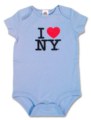 S & T World Products I Love Ny Babies Onesie 100% Soft Cotton Sky Blue 6 Month front-28302