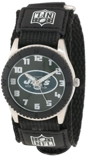 Game Time Mid-Size NFL-ROB-NYJ Rookie New York Jets Rookie Black Series Watch at Amazon.com