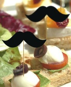"Mustache Way to Celebrate Food, Cupcakes, Cocktails, 2.5"" Mustache Party Paper Picks, 36 Count Value"
