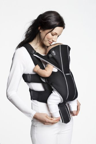 BABYBJORN Baby Carrier Miracle – Black/Silver, Cotton Mix