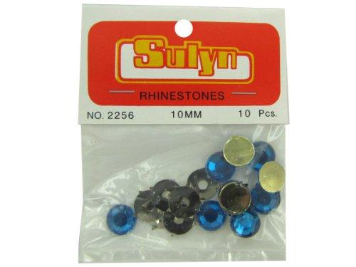 DDI 10 Pc 10Mm Blue Rhinestones- Case of 48