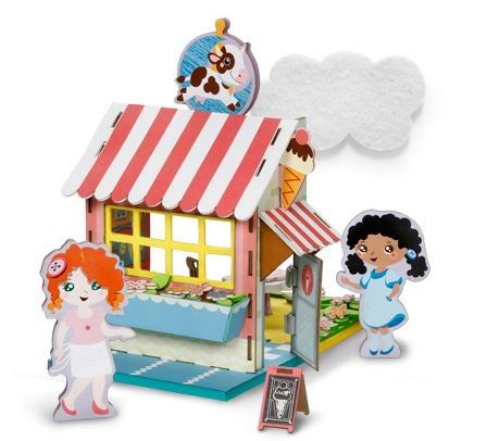 3-D Playtown Creativity Kits: Over the Moon Creamery