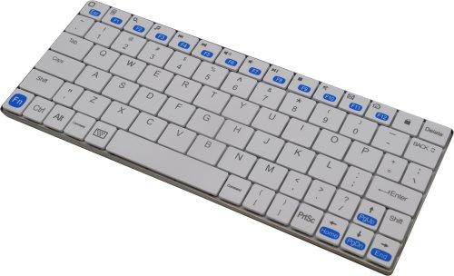 世界最薄5.6mm新しいiPad4/iPad3/iPad2/iPad Mini/iPhone5 4S/iMac対応コンパクト ワイヤレス ブルートゥースキーボードCompact Bluetooth Keyboard for Nexus7/Xperia Tablet S タブレット端末・Galaxy Tab Note S3・Bluetooth機器にも対応[IP018] (ホワイト)