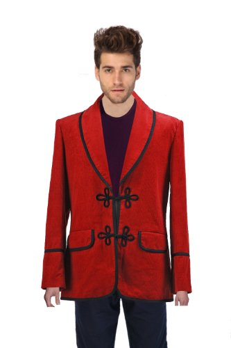 CosDaddy® Cosplay Costume 3rd Doctor Red Corduroy Jacket