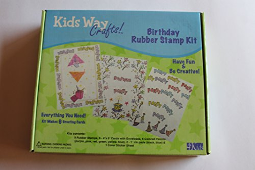 Kids Way Birthday Rubber Stamp Kit