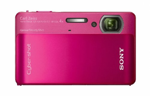Sony DSCTX5R Cyber-shot Digital Camera - Red (10.2MP, 4x Optical Zoom) 3 inch LCD