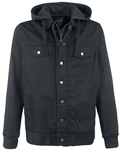 R.E.D. by EMP Mixed Denim Jacket Giacca di jeans grigio/nero L