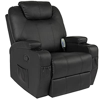 Best Choice Products Massage Recliner Sofa Chair Heated W/Control Ergonomic Executive Couch Lounge