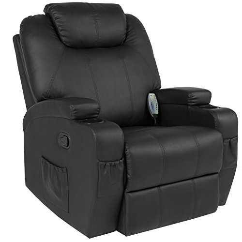 Best Choice Products Massage Recliner Sofa Chair Heated with Control Ergonomic Executive Lounge, Black, 92.5 Pound (Electric Chairs compare prices)
