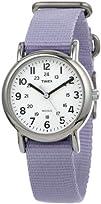 Timex Womens T2P0769J Weekender Lavender Slip Thru Nylon