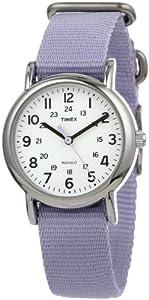 Timex Women's T2P0769J Weekender Lavender Slip Thru Nylon Strap Watch