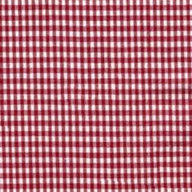 Gingham Moses Basket Sheets - Set Of 6 - Color: Red front-1052552