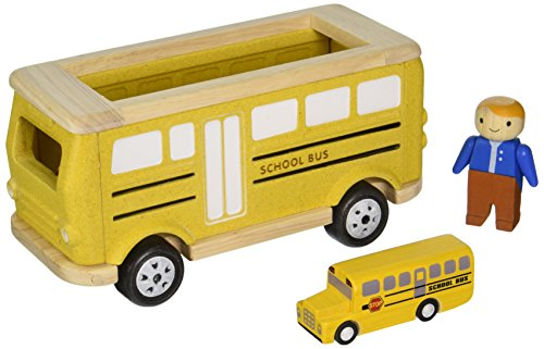 Plan Toys School Bus Playset (Wood Toy Bus compare prices)