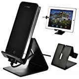 Sunvito Solid Aluminum Metal Desktop Stand for Mobile Phone Tablet PC (Black)