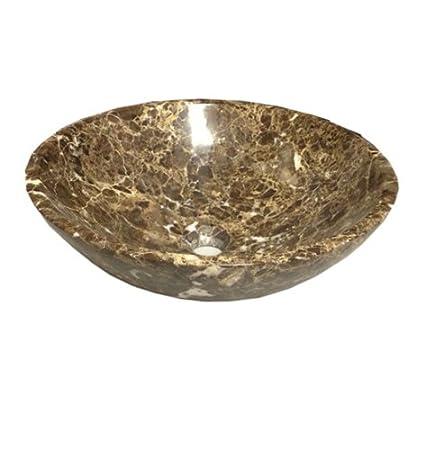 Classic Stone Vessel Sink, Emperador Dark Natural Stone Sink YG32
