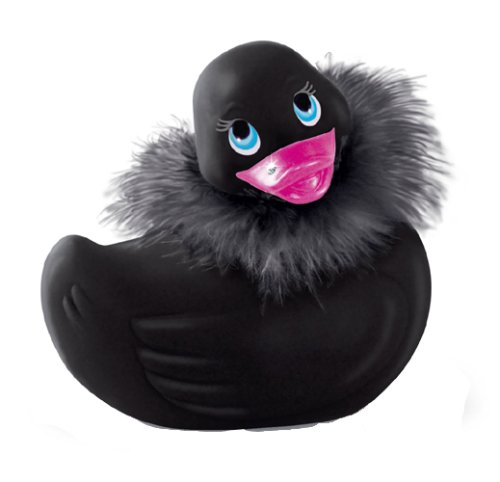 Big Teaze Toys Travel Size I Rub My Duckie Personal Massager, Paris, Noir