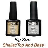 CND Shellac Top .5oz and Base .42oz