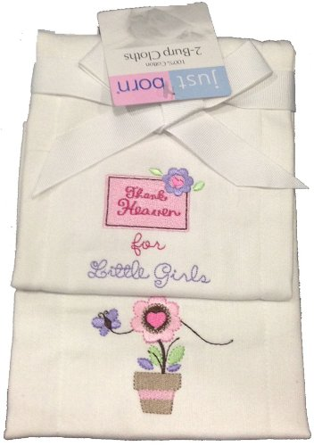 Just Born 2-Pk. Baby Girls Burp Cloths - Flower