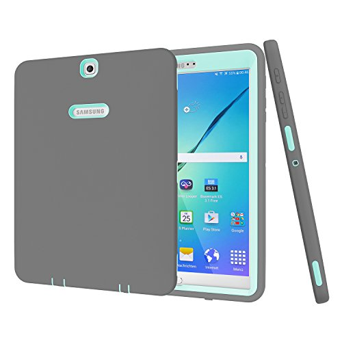 Galaxy Tab S2 9.7 Case, PIXIU [Heavy Duty] Shockproof Heavy Duty Rugged Hybrid Case for Samsung Galaxy Tab S2 9.7