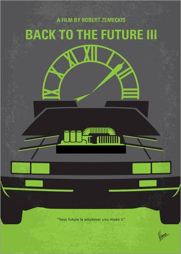 Poster 90 x 120 cm: No183 My Back to the Future minimal movie poster part III di chungkong - stampa artistica professionale, nuovo poster artistico