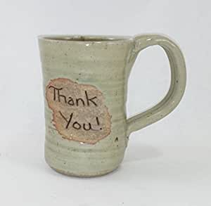 Aunt chris 39 pottery hand made clay thank for Natural stone coffee mugs