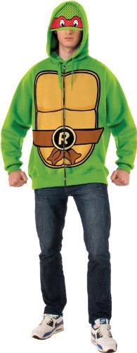 Rubie's Costume Men's Teenage Mutant Ninja Turtles Adult Raphael Hoodie