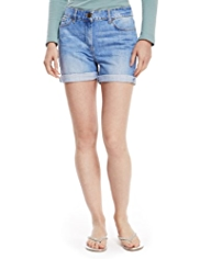 M&S Collection Turn Up Hem Denim Shorts