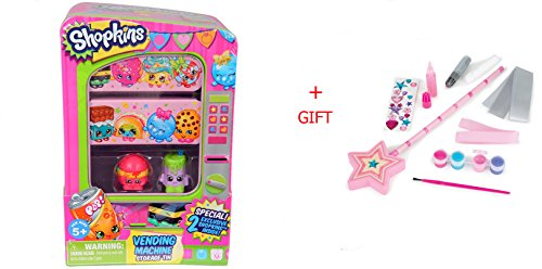 Shopkins Kids Vending Machine & DYO Princess Wand Playset (Egg Vending Machine compare prices)