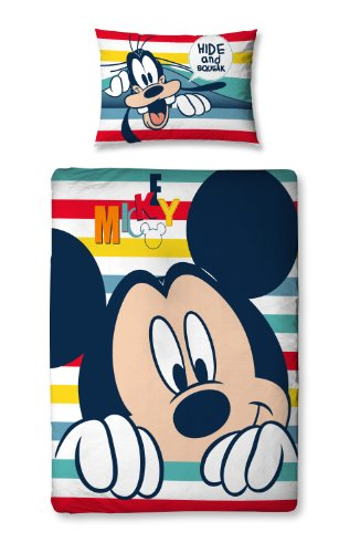 Character World 125 x 150 cm Disney Mickey Mouse Play Junior Panel Duvet Set