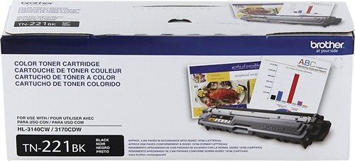 Original Brother Tn221Bk (Tn-221Bk) Black Toner Cartridge