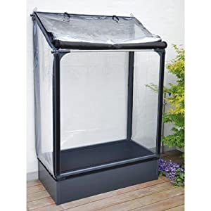 Grow Camp Lean-to Ultimate Vegetable Grower 4' X 2' Protected Mini Greenhouse. Tent Layer Folds Back for Easy Access.