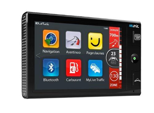 """Munic Platinium France Assistance d'aide à la conduite avec GPS 3"""" (7,62 cm) France Bluetooth 4 Go Noir"""