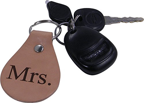 Mr and Mrs Leather Keychain - Great Gift for a married, newlywed couple