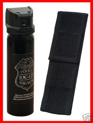 4 oz. Ounce Pepper Spray With Nylon Holster