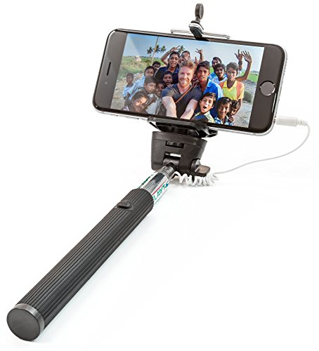 selfie stick best monopod sticks work with iphone 6 6plus 5 5s 5c 4 samsun. Black Bedroom Furniture Sets. Home Design Ideas