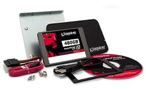 Kingston SV300S3B7A/480G SSD Festplatte 480GB (6,4 cm (2,5 Zoll), SATA III) schwarz