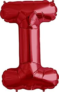 Amazoncom letter i red helium foil balloon 34 inch for Foil letter balloons amazon