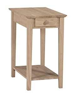 narrow side table with drawer end tables. Black Bedroom Furniture Sets. Home Design Ideas