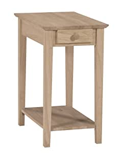 Narrow Side Table With Drawer End Tables