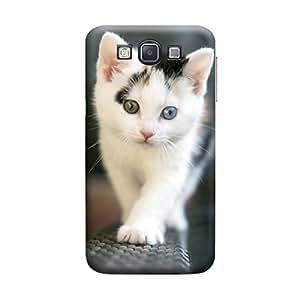 Desicase Samsung A5 Walking Kitten 3D Matte Finishing Printed Designer Hard Back Case Cover (Multicolor)