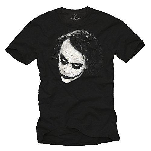 T-shirt Joker - WHY SO SERIOUS - maglietta Batman uomo nera L