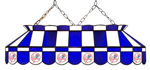 Mlb New York Yankees 40-Inch Rectangular Stained Glass Billiards Table Light