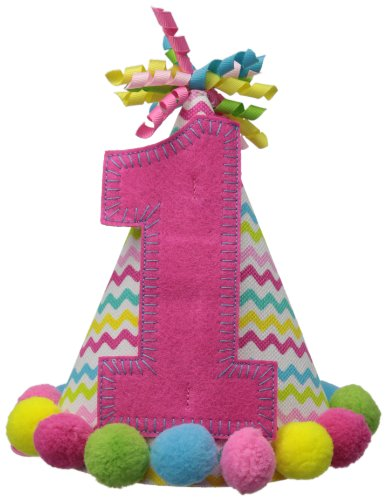 Mud Pie Baby-Girls Newborn I Am One Party Hat, Pink, One Size