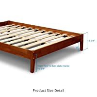 Best Price Mattress - Solid Hardwood Platform Bed - Cherry