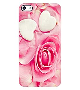 ColourCraft Heart and Flower Design Back Case Cover for APPLE IPHONE 4S