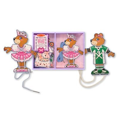 Melissa & Doug Deluxe Lacing Bear Dress-Up