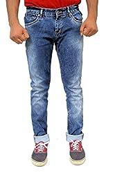 Evanzo Men's Slim Jeans (KV3CAA898EB_Blue_30W x 32L)