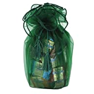 Green Organza Wrapped 80 Count SQUARE…