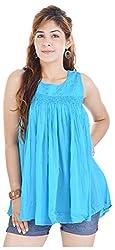 Shop Avenue Women's A-Line Dress (Blue )